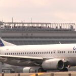United Airlines Boeing 737-800 N25201 Take off from Sendai Airport